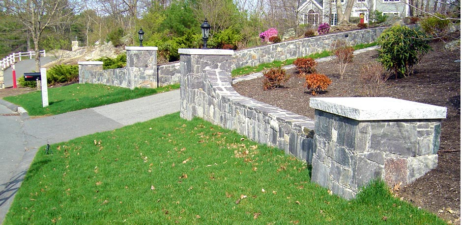 Corinthian granite stone walls and pillars